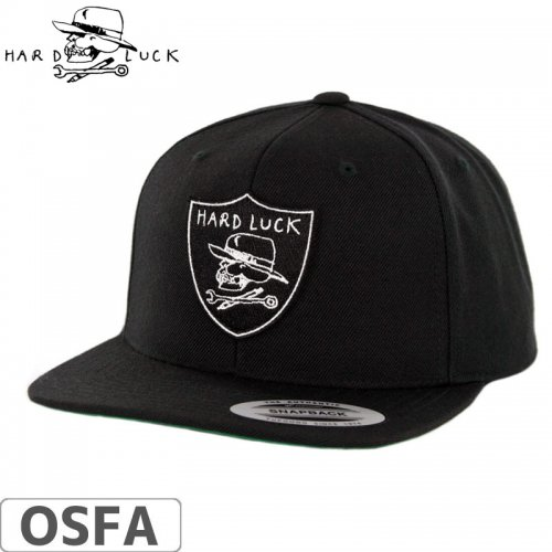 【HARD LACK ハードラック スケボー キャップ】HARD SIX SNAPBACK HAT【ブラック】NO2