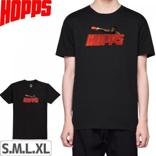 【HOPPS ホップス スケボー Tシャツ】BIG HOPPS PUNCH-OUT【ブラック】NO1