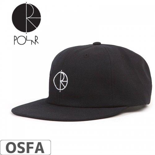 【POLAR ポーラー スケボー キャップ】18SU CANVAS CAP【ブラック】NO11