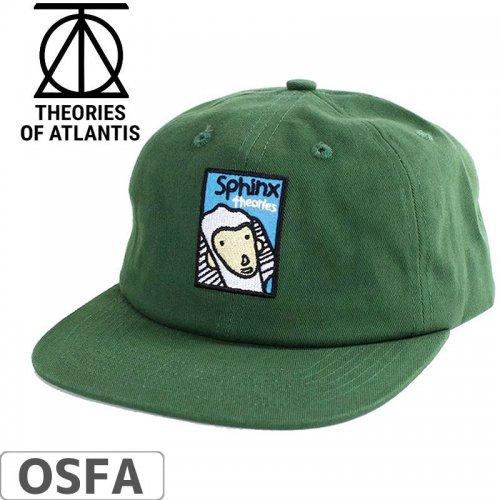 【THEORIES セオリーズ スケボー キャップ】19SP FOLLOW THE LEADER SNAPBACK CAP グリーン NO5
