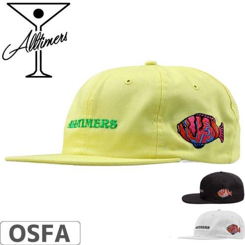 【ALLTIMERS オールタイマーズ スケボー キャップ】AQUA HAT ブラック/ホワイト/イエロー NO3