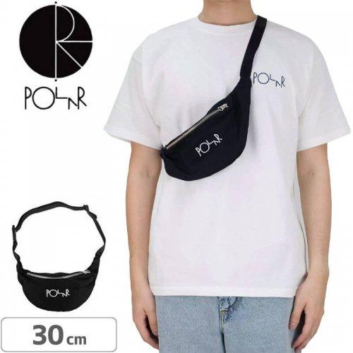 【スケボー バッグ ポーラー】POLAR SKATE CO. SCRIPT LOGO HIP BAG【ブラック】NO3