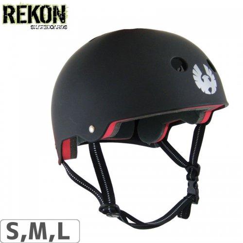 【リーコン REKON スケボー ヘルメット】VELVET HELMET【マットブラック】NO7