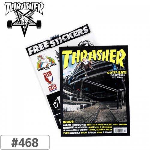 【スケボー 雑誌 海外 マガジン スラッシャー】USA規格 THRASHER MAGAZINE 2019 JULY ISSUE #468 NO05
