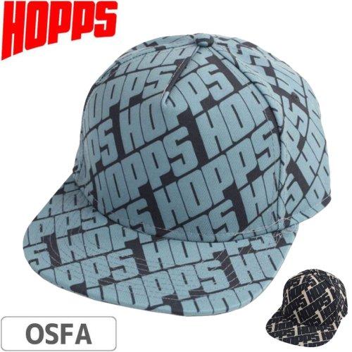 【HOPPS ホップス スケボー キャップ】HOPPS ALL OVER SNAPBACK NO1