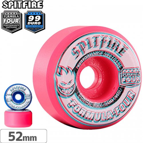 【SPITFIRE スピットファイアー ウィール】F4 OVERLAY CONICAL FULL PINK/BLUE MASHUPS【99D】【52mm】NO252