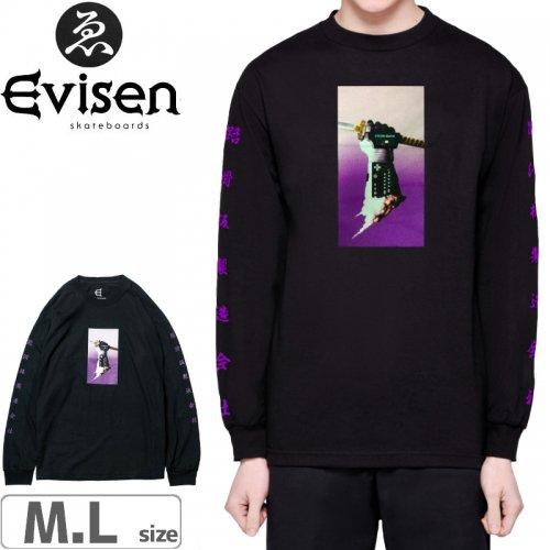 【EVISEN エビセン スケボー ロング Tシャツ】NICE GLOVE MAN L/S TEE【ブラック】NO1