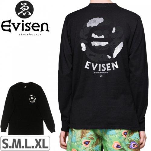 【EVISEN エビセン スケボー ロング Tシャツ】DOKU TSUBAKI L/S TEE【ブラック】NO2