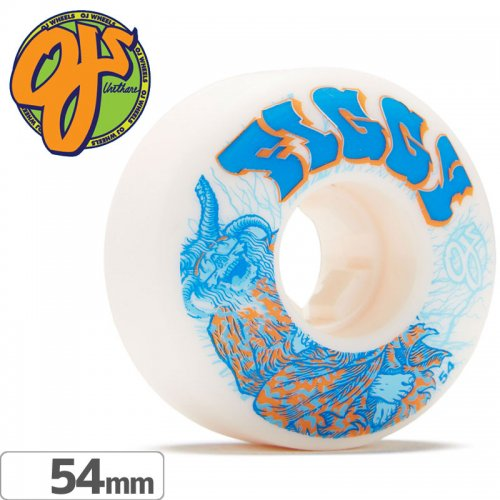 【オージェイ OJ WHEELS スケボー ウィール】FIGGY LIGHTNING ELITE EZ EDGE【54mm / 101A】NO45