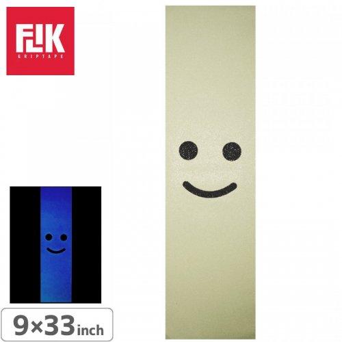 【フリック FLIK デッキテープ】FLIK GLOW IN THE DARK SMILE GRIP TAPE【9 x 33】【夜光ブルー】NO46
