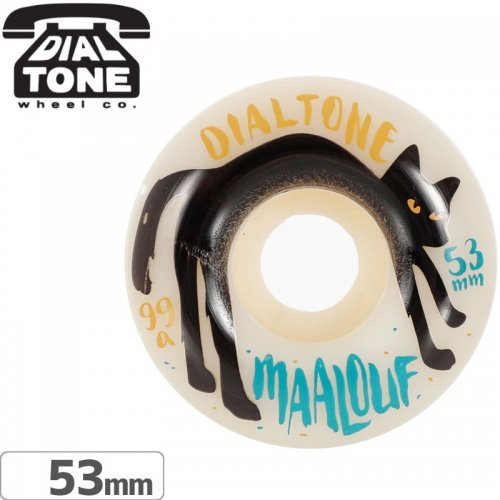 【ダイアルトーン DIAL TONE WHEELS スケボー ウィール】MAALOUF CAT CALL【99A 53mm】NO6