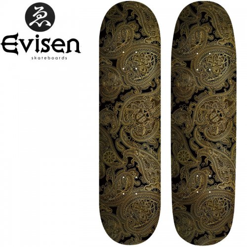 【EVISEN エビセン スケボー デッキ】EVI PAISLEY BLACK[8.1インチ][8.5インチ]NO19