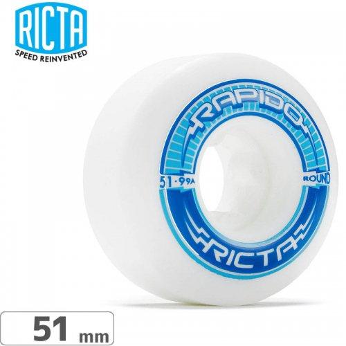 【リクタ RICTA スケボー ウィール】RAPIDO ROUND【99A 51mm】NO41