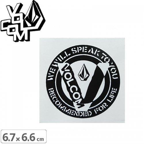 【ボルコム VOLCOM ステッカー】STICKER【6.7cm x 6.6cm】NO357