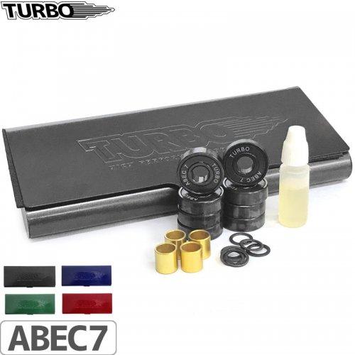 【ターボ スケートボード ベアリング TURBO BEARING】METAL BOX SET【ABEC7】オイル付き NO4