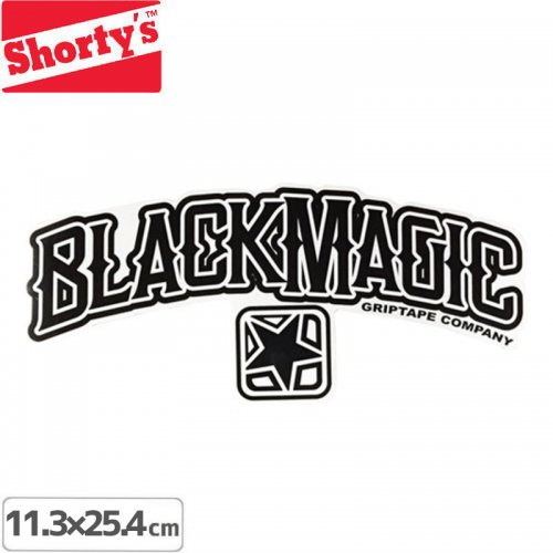 【ショーティーズ SHORTYS ステッカー】BLACKMAGIC LOGO STICKER【11.3cm x 25.4cm】NO25