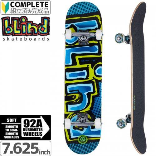 【ブラインド BLIND スケートボード コンプリート】OG FOIL BLUE PREMIUM COMPLETE 92A[7.625インチ]NO116