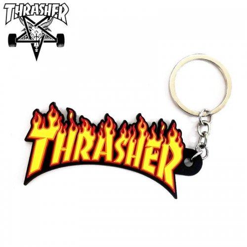 【スラッシャー THRASHER キーホルダー】Flame Keychain USAモデル【3.8cm x 8.5cm】NO05