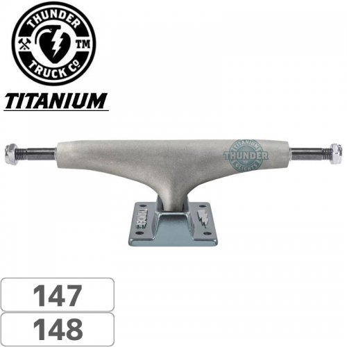 【THUNDER サンダー スケボー トラック】AERO TITANIUM LIGHTS GUN METAL【147】【148】NO138