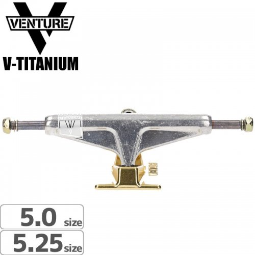 【VENTURE ベンチャー スケボー トラック】V-TITANIUM POLISHED GOLD【5.0】【5.25】NO118