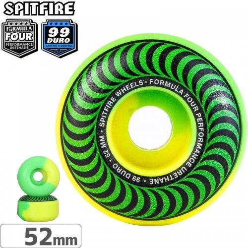 【SPITFIRE スピットファイアー ウィール】FORMULA FOUR 50 50 SWIRL 99D GREEN/YELLOW【52mm】NO255