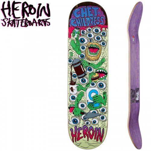 【HEROIN SKATEBOARDS ヘロイン デッキ】CHILDRESS MUTATION DECK[8.75インチ]NO34