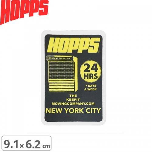 【HOPPS ホップス ステッカー】24 HRS【9.1cm x 6.2cm】NO4