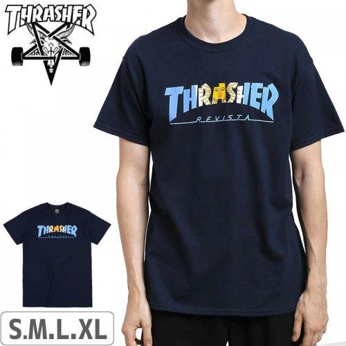 【スラッシャー THRASHER Tシャツ】USAモデル Argentina T-Shirt【ネイビー】NO114