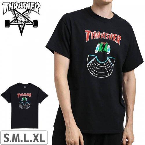 【スラッシャー THRASHER Tシャツ】USモデル Doubles T-shirt【ブラック】NO115