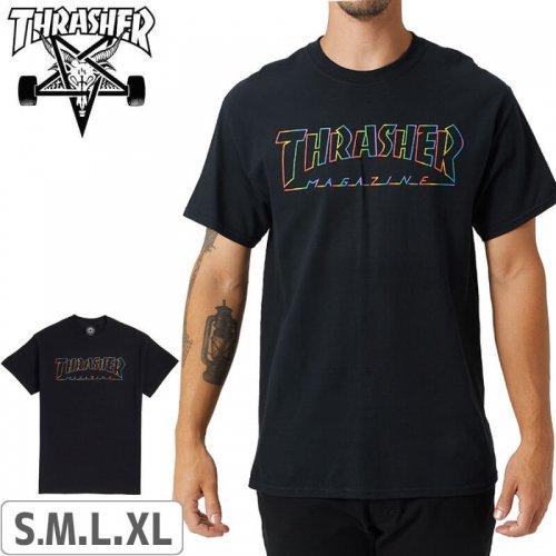 【スラッシャー THRASHER Tシャツ】USモデル Spectrum T-Shirt 【ブラック】NO116