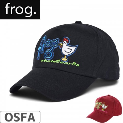 【FROG SKATEBOARDS フロッグ スケートボードキャップ】LUCKY CHICKEN HAT【ブラック】【レッド】NO1
