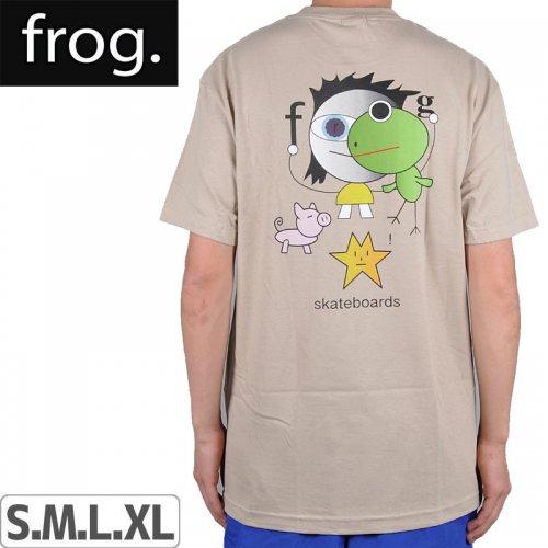 【FROG SKATEBOARDS フロッグ スケートボード Tシャツ】FROG KID! TEE【オートミール】NO2