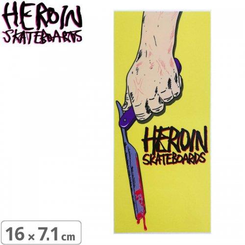 【ヘロイン スケボー ステッカー】RAZORTOP【16cm×7.1cm】NO39