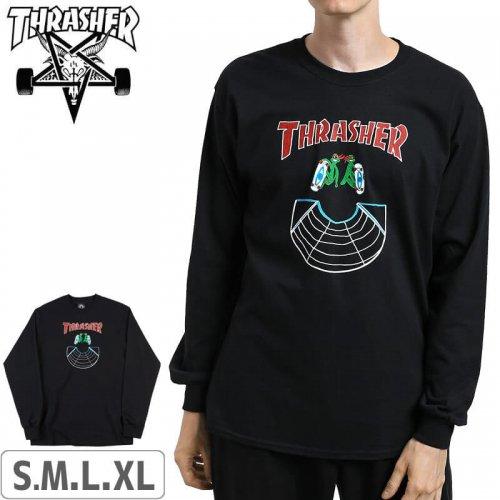 【スラッシャー THRASHER ロングTシャツ】(USA規格)Doubles Longsleeve【ブラック】NO07