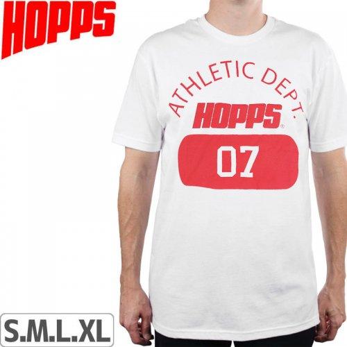 【HOPPS ホップス スケボー Tシャツ】ATHLETIC DEPT.07 TEE【ホワイト】NO3