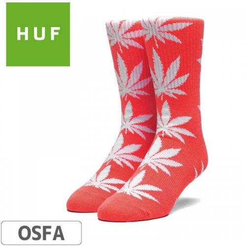 【HUF ハフ スケボー ソックス】靴下 PLANT LIFE SOCKS【CAYENNE】NO56