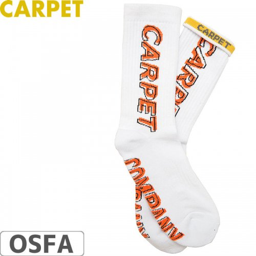 【CARPET COMPANY カーペット カンパニー スケートボード 靴下 ソックス】MISPRINT SOCKS【ホワイト】NO1