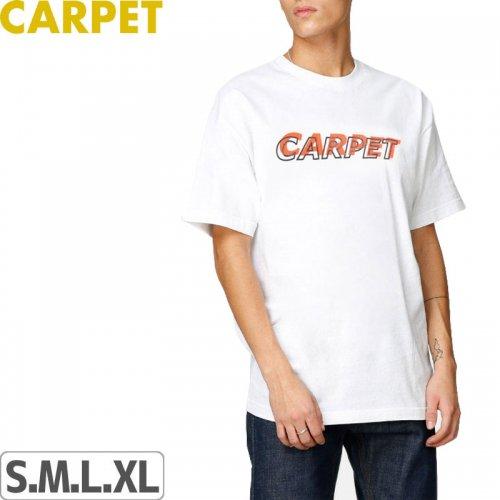 【CARPET COMPANY カーペット カンパニー スケートボード Tシャツ】MISPRINT TEE【ホワイト】NO1