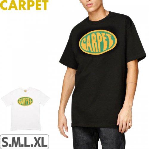 【CARPET COMPANY カーペット カンパニー スケートボード Tシャツ】FUNK OVAL TEE【ブラック】【ホワイト】NO2