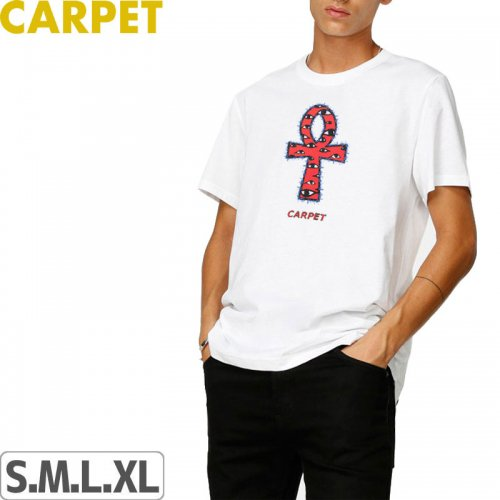 【CARPET COMPANY カーペット カンパニー スケートボード Tシャツ】ANKH ELLINGTON TEE【ホワイト】NO3