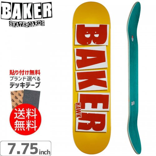 【ベーカー BAKER スケボー デッキ】HAWK BRAND NAME BURNT ORG DECK[7.75インチ]NO240