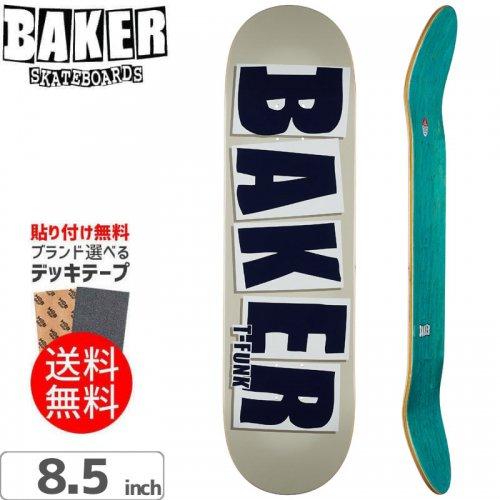 【ベーカー BAKER スケボー デッキ】T-FUNK BRAND NAME TAUPE DECK[8.5インチ]NO241