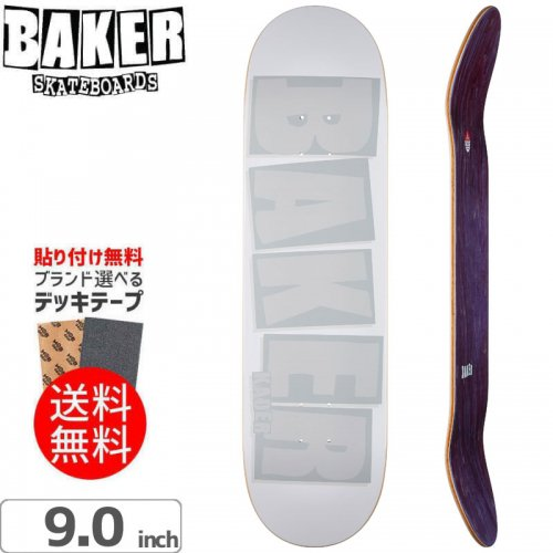 【ベーカー BAKER スケボー デッキ】KADER BRAND NAME WHT TONAL DECK[9.0インチ]NO243