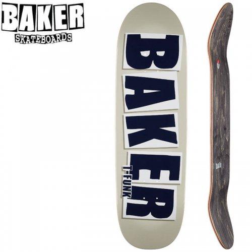 【ベーカー BAKER スケボー デッキ】T-FUNK BRAND NAME TAUPE DECK[9.25インチ]NO244