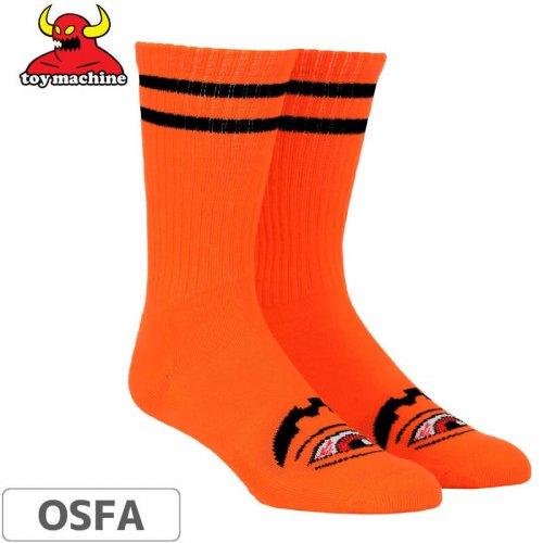 【トイマシーン TOY MACHINE スケボー ソックス】Sect-O-Lantern Crew Socks【オレンジ】NO54