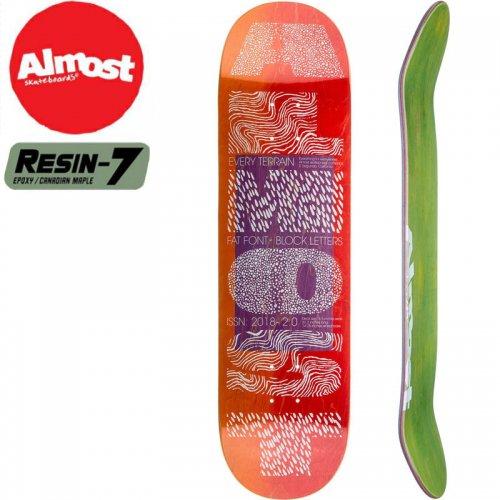 【オルモスト ALMOST デッキ】FAT FONT PRO R7 DECK[8.5インチ]NO143