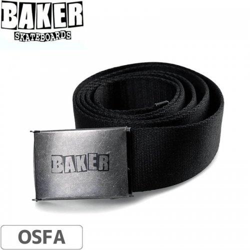 【ベーカー BAKER スケボー ベルト】Brand Logo Web Belt【ブラック】NO04