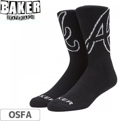 【ベーカー BAKER スケボー ソックス】ATL Socks【ブラック】NO02