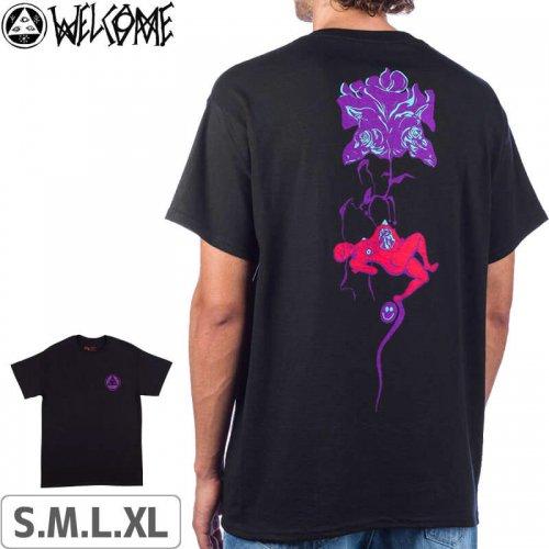 【WELCOME ウェルカム スケートボード Tシャツ】Lessrach T-Shirt【ブラック】NO6