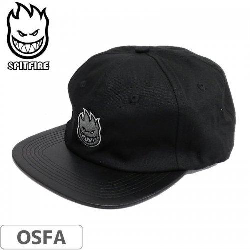 【スピットファイヤー SPITFIRE レザーキャップ】Lil Bighead Fill Hat【ブラック×シルバー】NO71